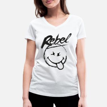SmileyWorld Rebel - T-shirt med V-udskæring dame