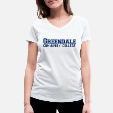 Community Greendale Community Colllege - Maglietta con scollo a V donna