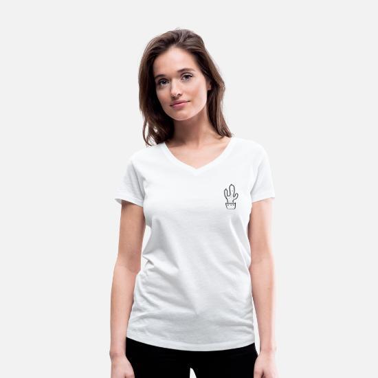 kaktus T shirt med V udskæring dame | Spreadshirt