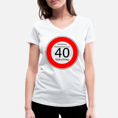 40th Birthday 40th birthday - Women's Organic V-Neck T-Shirt