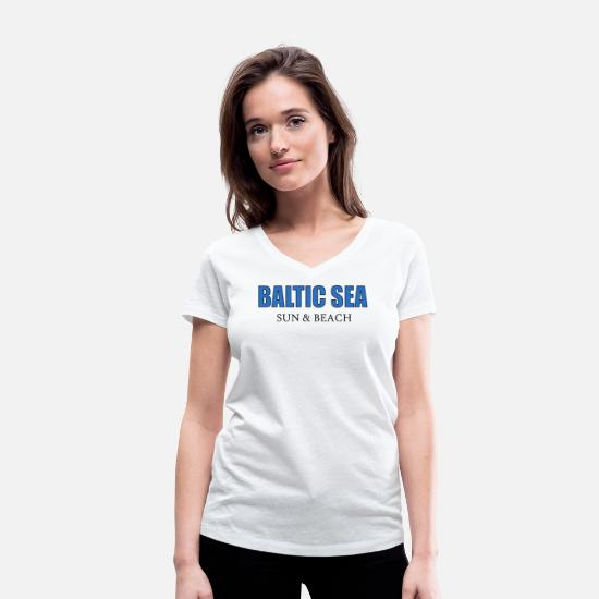 Sailboat T-Shirts - Baltic Sea Baltic sea sea gift - Women's Organic V-Neck T-Shirt white