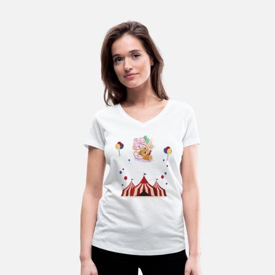 Birthday T-Shirts - 5 Birthday Kids Birthday Gift Birthday - Women's Organic V-Neck T-Shirt white