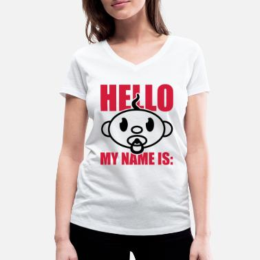 First Name baby_hello_my_name_is_gi2 - Women's Organic V-Neck T-Shirt