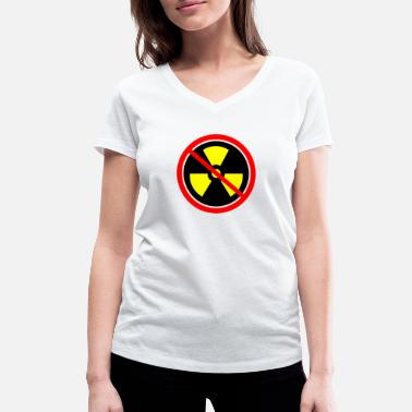 Castor Transport Anti nuclear power Nuclear power stations Nuclear energy Atomic energy - Women's Organic V-Neck T-Shirt