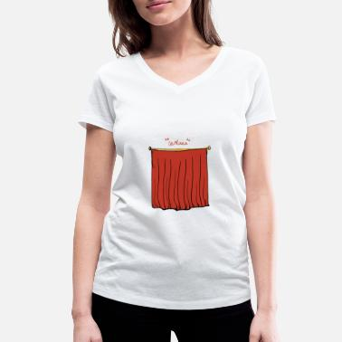 Curtain theater curtains - Women's Organic V-Neck T-Shirt
