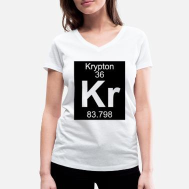 Krypton Element 36 - kr (krypton) - Inverse (Full) - Vrouwen V-hals bio T-shirt