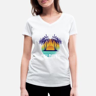 My Story begins in Maldives - Women's Organic V-Neck T-Shirt