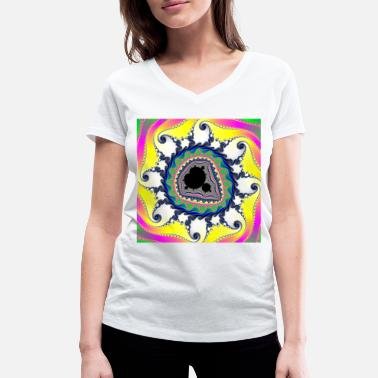 Ornament Fractal #020 - Women's Organic V-Neck T-Shirt