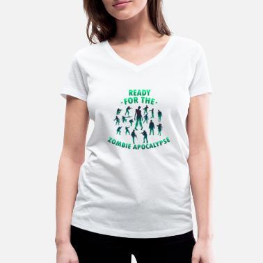 945bfd07 Zombie T-skjorte gaveide - Økologisk T-skjorte med V-hals for kvinner