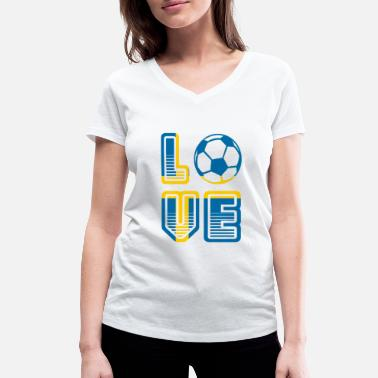 Summer Fairy Tale I Love Sweden - Summer Fairy Tale 2018 - Football - Women's Organic V-Neck T-Shirt