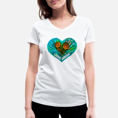 Ecology Lovegreen - Women's Organic V-Neck T-Shirt
