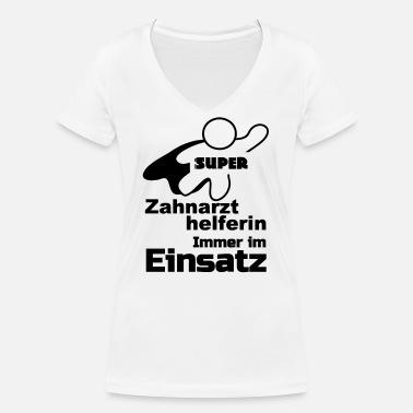 Frauen Damen T-Shirt Zahnarzthelferin Geschenk medizinische Praxis Beruf Spruch