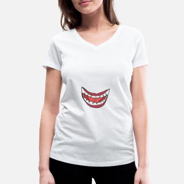 Mouth mouth - Women's Organic V-Neck T-Shirt