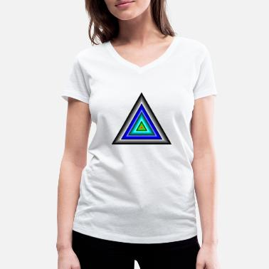 Triangle Triangles in triangle - Women's Organic V-Neck T-Shirt
