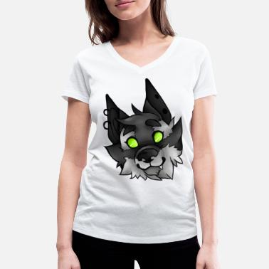 Werewolf Headshot - Women's Organic V-Neck T-Shirt