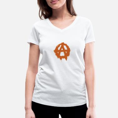 Spray Cans Anarchy symbol - Women's Organic V-Neck T-Shirt
