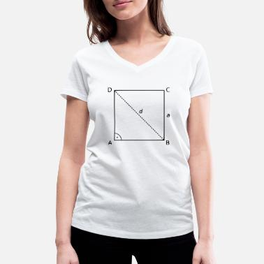 Square square - Women's Organic V-Neck T-Shirt
