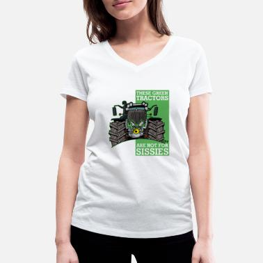 Schland these green tractors are not for missions2 - Women's Organic V-Neck T-Shirt