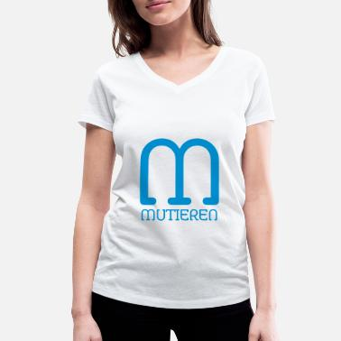 Mutation mutate - Women's Organic V-Neck T-Shirt