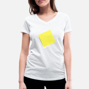 Note Clue yellow sticky note, sticky note, sticky note - Women's Organic V-Neck T-Shirt