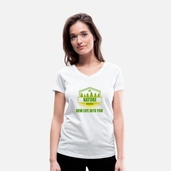 Enviromental T-Shirts - Nature - conservation - Women's Organic V-Neck T-Shirt white