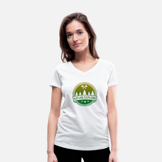 Outdoor T-Shirts - Nature - Explore - Conservation - Women's Organic V-Neck T-Shirt white