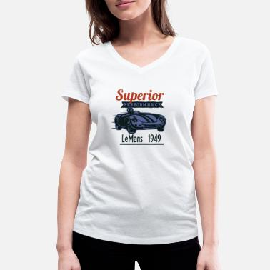 Superior Performance Racing Vintage LeMans 1949 - Women's Organic V-Neck T-Shirt