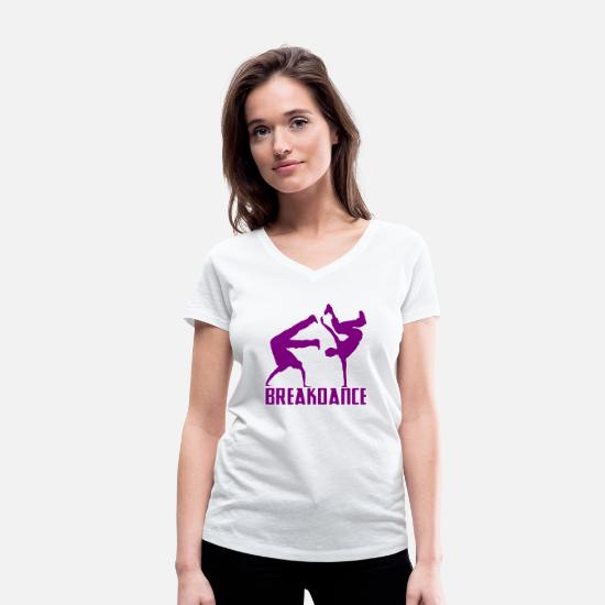 Bailarina Camisetas - Breakdance Breakdancer Breakdance Streetdance - Camiseta con cuello de pico mujer blanco