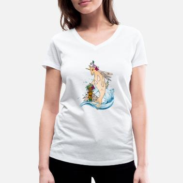 Libcornis Libcornis with Coma - Women's Organic V-Neck T-Shirt