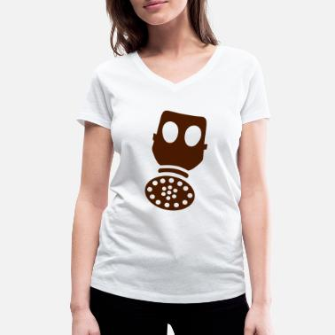 Gas Gas, gas mask - Women's Organic V-Neck T-Shirt