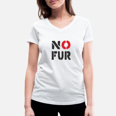 Fur No fur - Women's Organic V-Neck T-Shirt