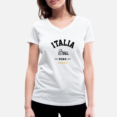 Rome for travelers - Women's Organic V-Neck T-Shirt