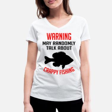 Recreational Warning sometimes talks about fishing gift - Women's Organic V-Neck T-Shirt