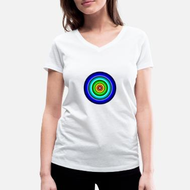 Circle Circle in circle - Women's Organic V-Neck T-Shirt