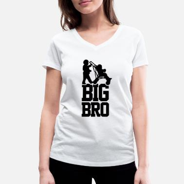 Big Bro Big Bro Baby Car - Women's Organic V-Neck T-Shirt