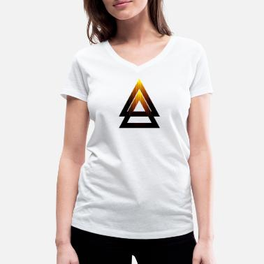 Abstract Abstract Triangle - Women's Organic V-Neck T-Shirt