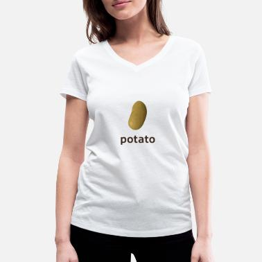 potato - Women's Organic V-Neck T-Shirt