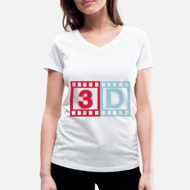 3d 3D - Women's Organic V-Neck T-Shirt