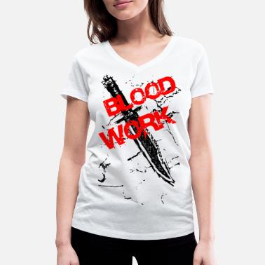 Knife Party 2reborn Blood Work Knife Knife Soldier Soldier bl - Maglietta con scollo a V donna
