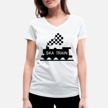 Ska ska train - Women's Organic V-Neck T-Shirt