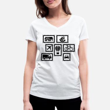 Stamp Stamps - Women's Organic V-Neck T-Shirt