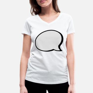 Speech Balloon speech balloon - Women's Organic V-Neck T-Shirt