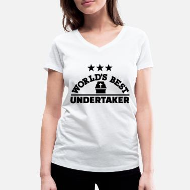 Tombstone Best undertaker - Women's Organic V-Neck T-Shirt