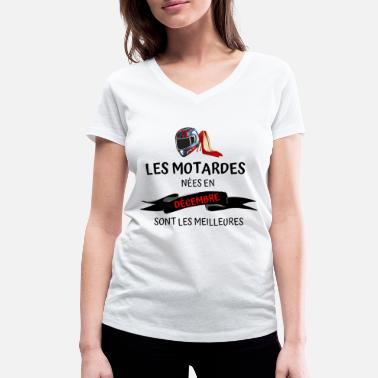 Seul un T-Shirt Motard drôle motocyclette moto femme femmes col V