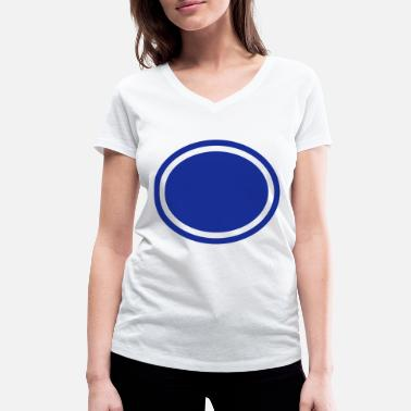 Background Ellipse, Background - T-shirt bio col V Femme