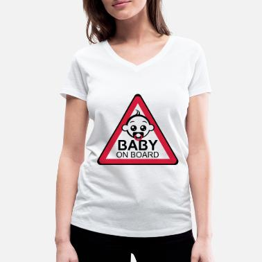 Baby On Board Baby Board 2reborn - Women's Organic V-Neck T-Shirt