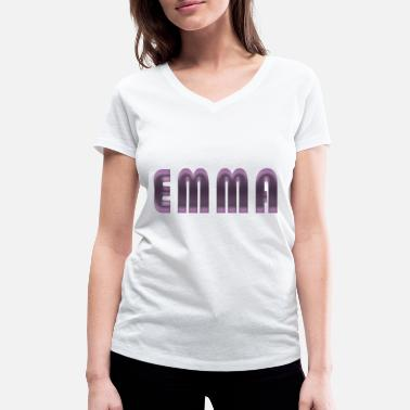 Birth Name Emma name first name name day birth gift idea - Women's Organic V-Neck T-Shirt
