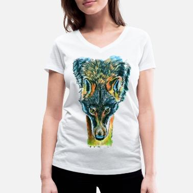 Bad Look Bad wolf / bad look - Women's Organic V-Neck T-Shirt