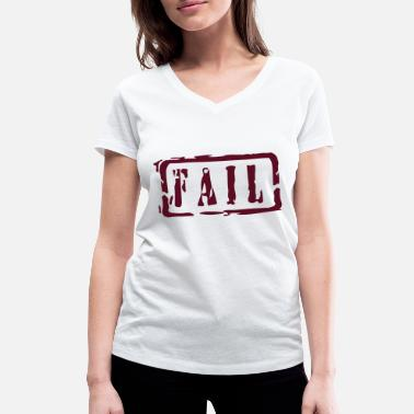 Writing fail writing - T-shirt bio col V Femme