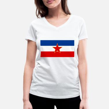 Federal Republic Socialist Federal Republic of Yugoslavia (1945- - Women's Organic V-Neck T-Shirt